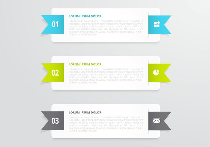 Horizontal Ribbon Banners PSD