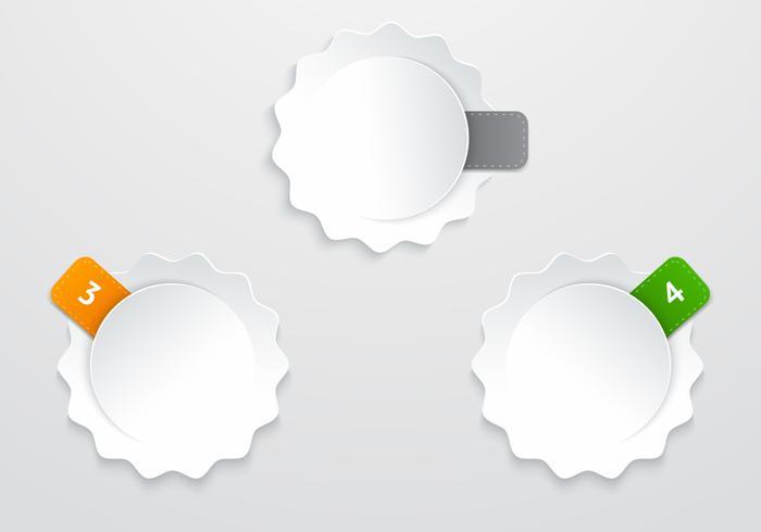 Märkta klistermärken PSD
