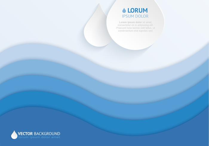 Layered Water Drop Background PSD