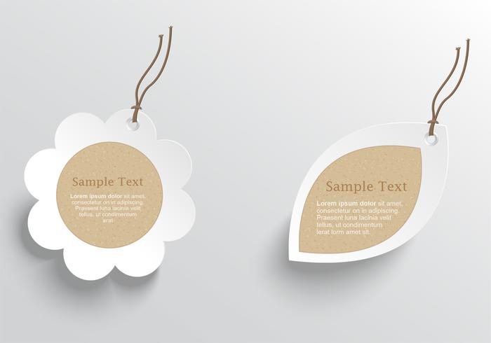 Natural Cardboard Tags PSD Pack