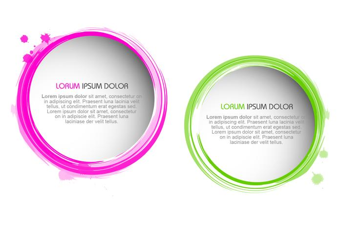 Splatter Paint Borders PSD Set