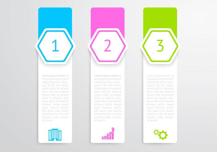 Vertical Hexagon Banners PSD Set