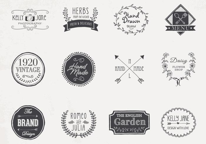 Hand Drawn Logo PSD Pack
