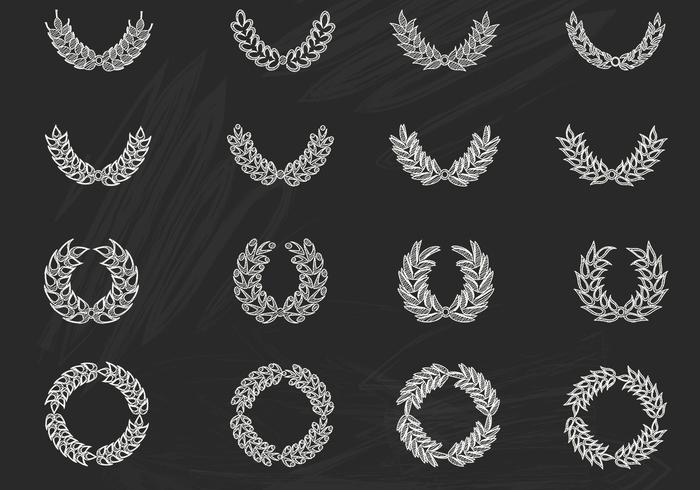 Kalkdragen Laurel Wreath PSD Pack