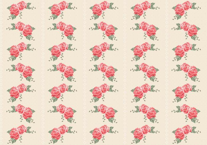 Retro Roses Seamless Pattern PSD