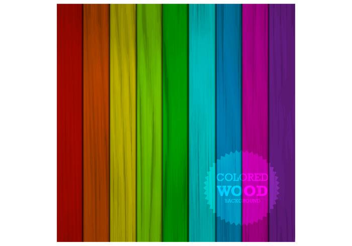 Colored Wood Background PSD
