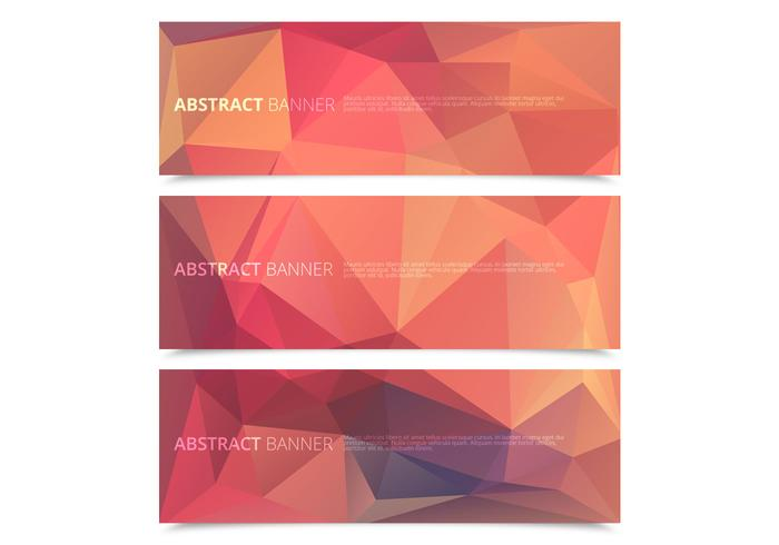 Geometrische Polygonale Banners PSD Pack