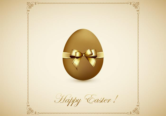Ovo dourado Happy Easter PSD