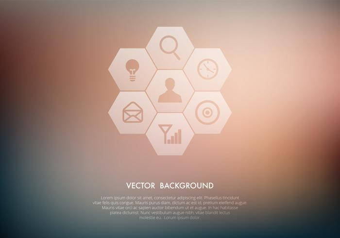 Transparent Icons on Blurred Background PSD Set