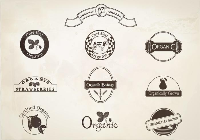 Retro Organic Labels Borstar