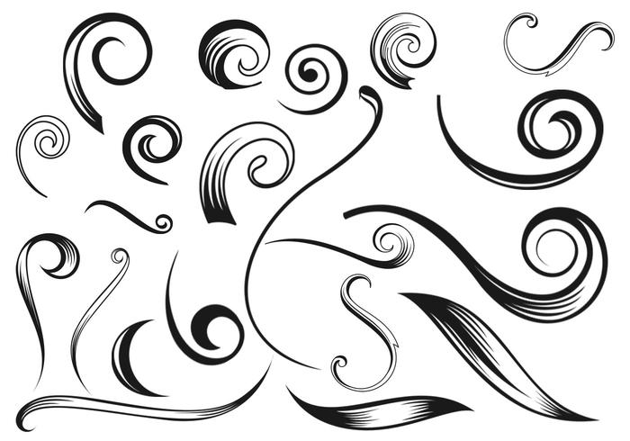 Swirly Flourish Pinsel