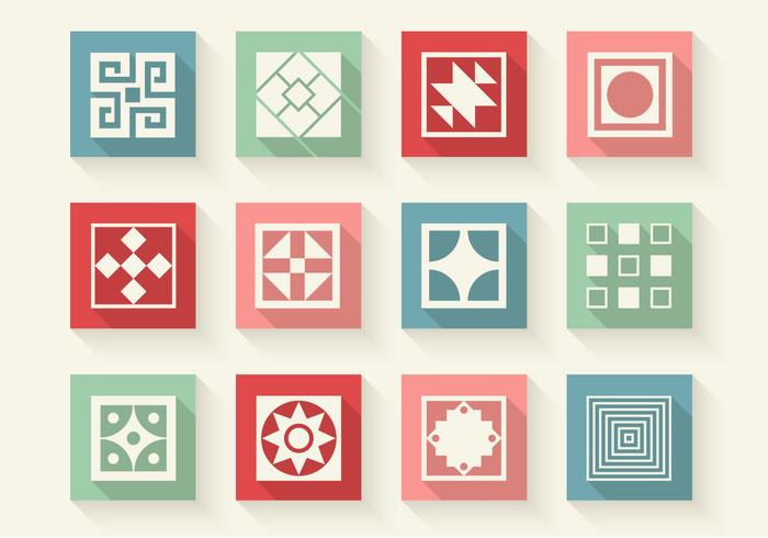 Iconos de formas abstractas PSD Set