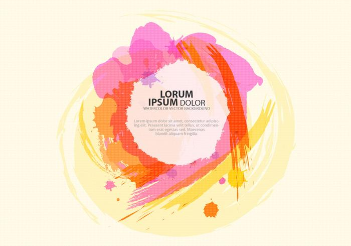 Colorful Watercolor Background PSD