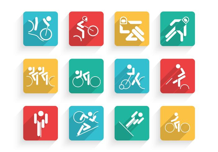 Cycling Icons PSD Set