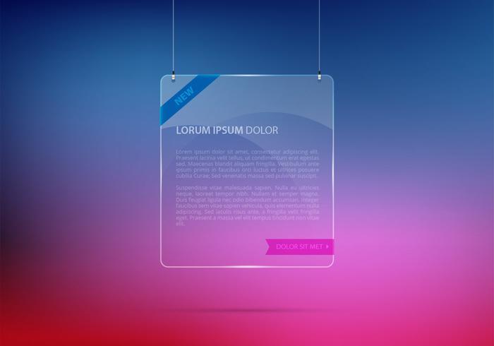 Fundo de moldura de vidro suspenso PSD