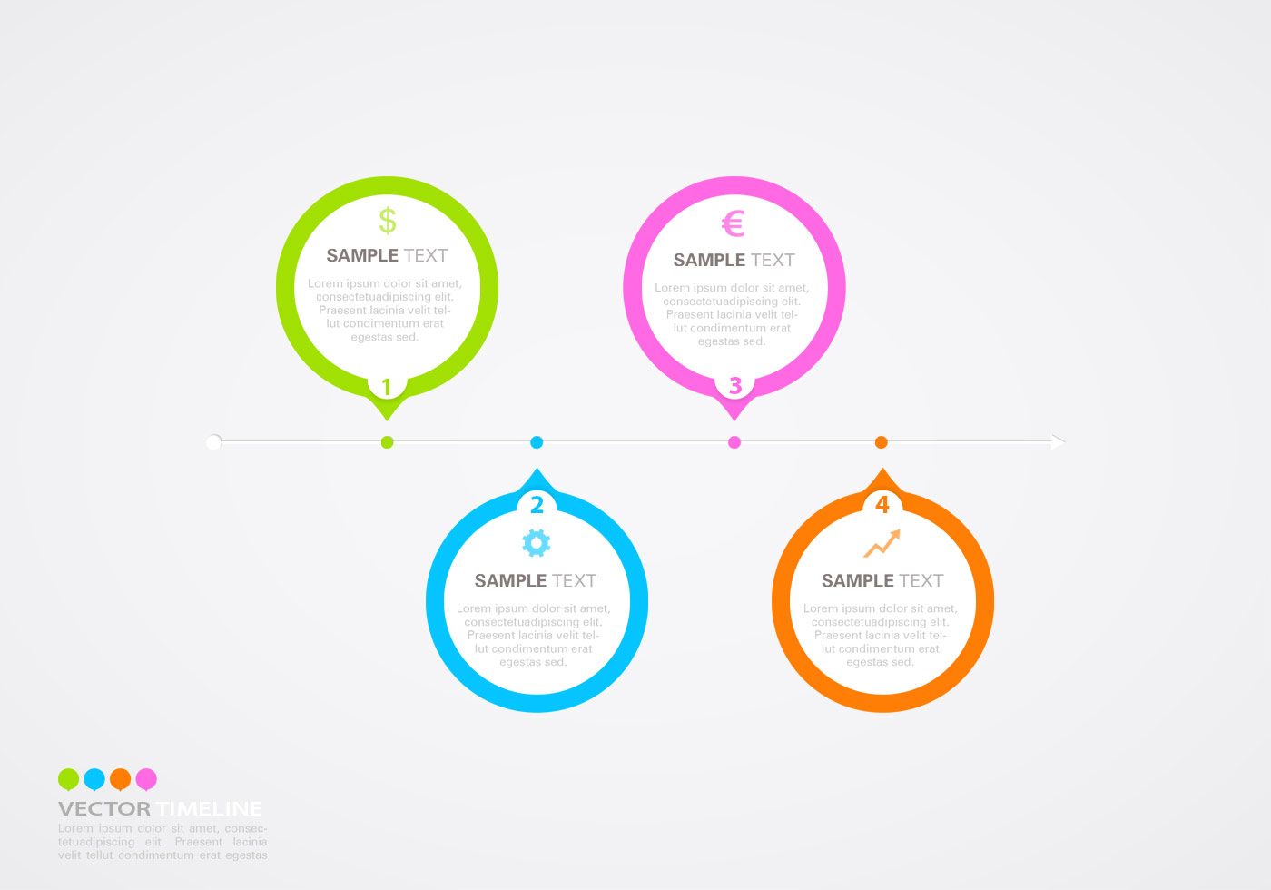 Photoshop Templates: Horizontal Timeline Infographic PSD Template