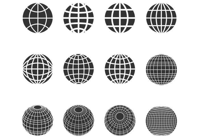 Silhouette Globes Spheres Borstels