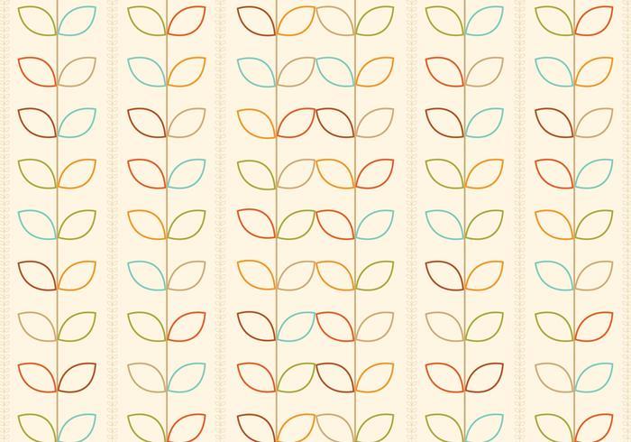 Skisserat Retro Blommönster