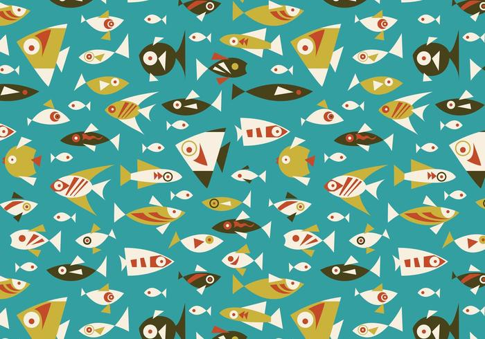 Retro Fish Seamless Pattern