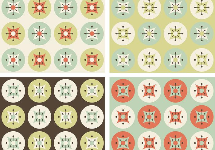 Retro patrones de flores