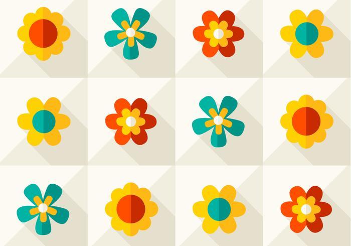 Moderno patrón floral
