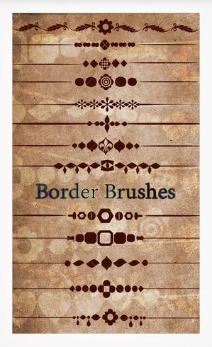 Vintage Border Brushes Pack