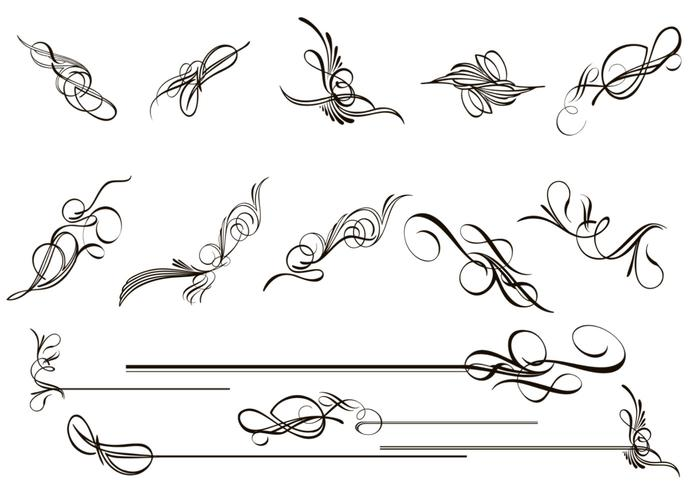 Caligrafía Pinceles Flourish Pack