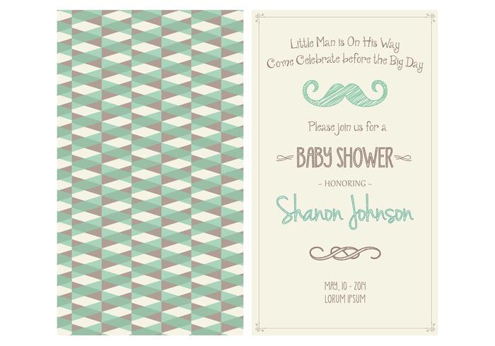 Baby Boy Shower Invitation PSD