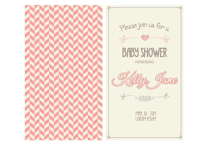 Baby Girl Shower Invitation PSD
