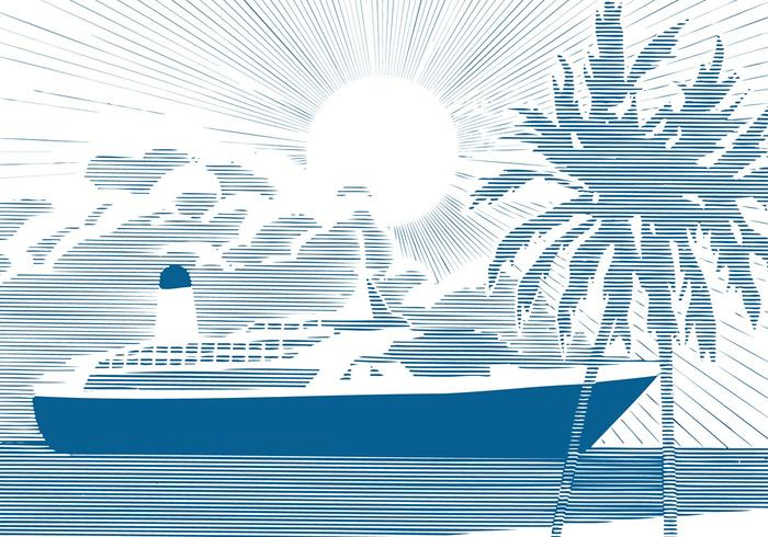 Cruise Ship Background PSD