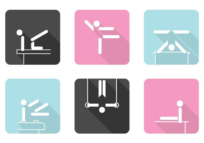 Gymnastiek Pictogrammen PSD Set