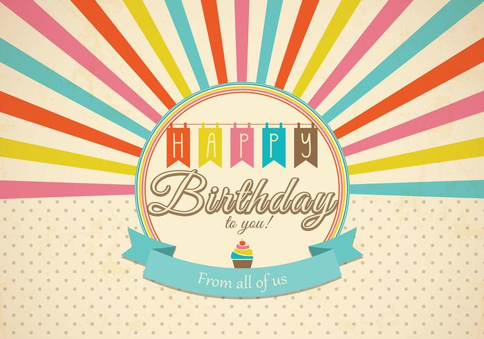 Retro Happy Birthday Card Psd Free Photoshop Brushes At Brusheezy