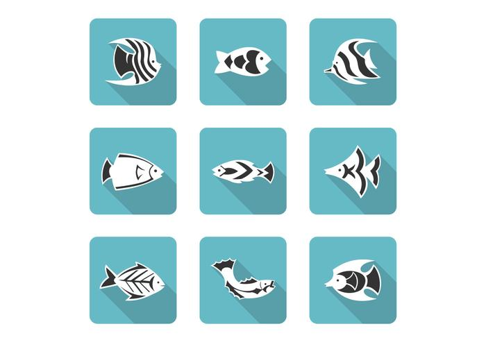 Stylized Fish Icons PSD Set