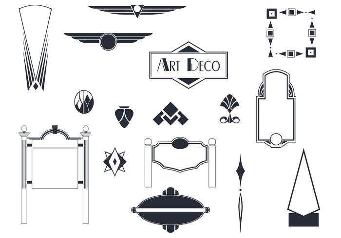 Art Deco Sinais e ornamentos Brushes