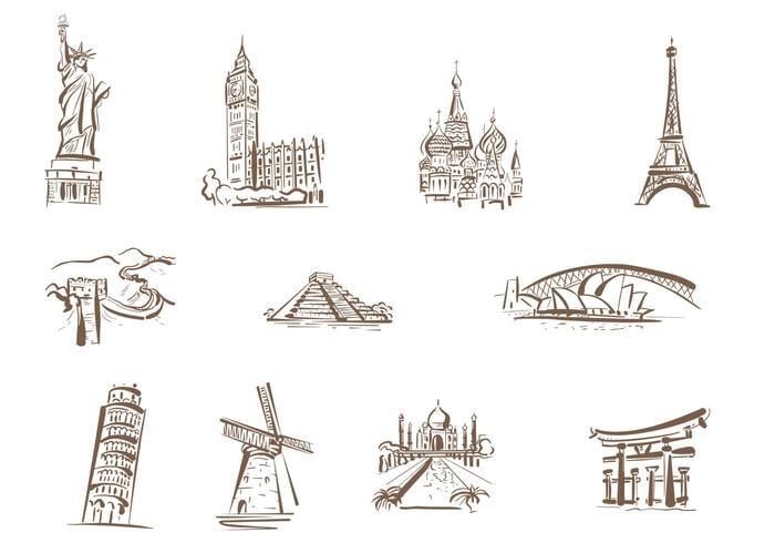 Pincéis de Marcos famosos desenhados