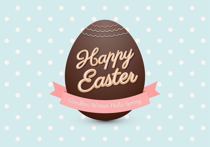 Fondo de PSD del huevo de Pascua del chocolate