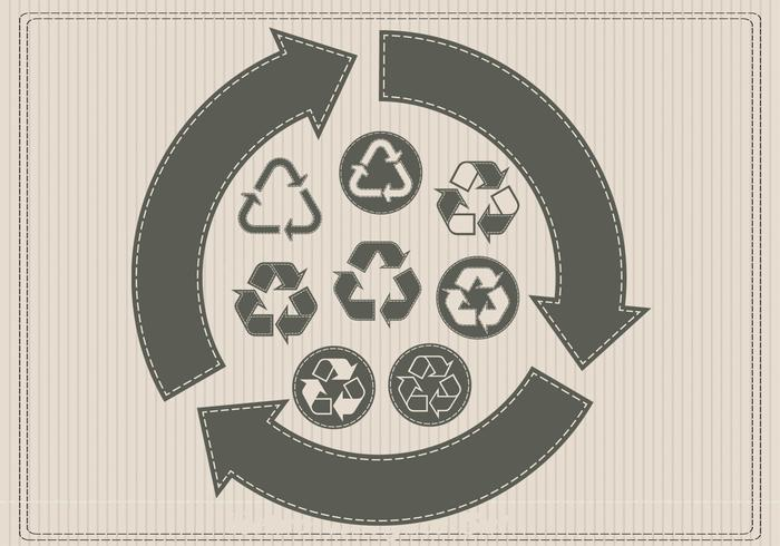 Retro Recycling PSD-Set