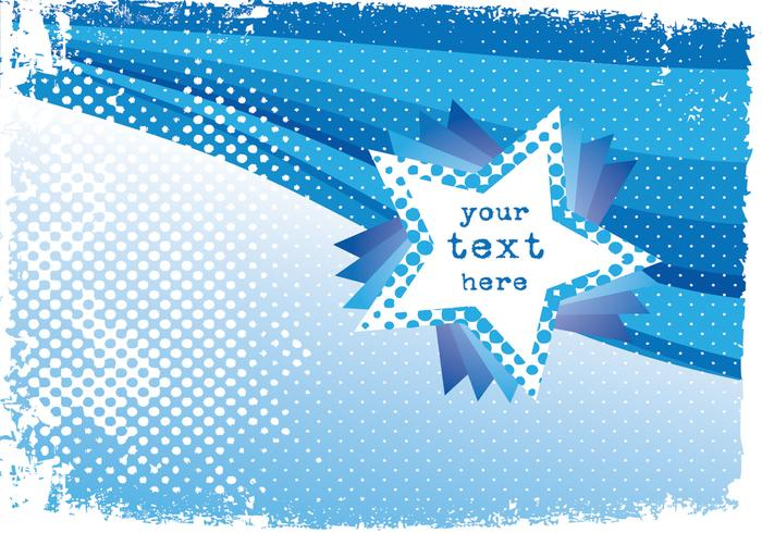 Blue Star Background PSD