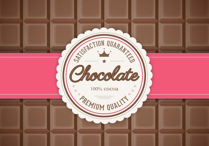 Bar of Chocolate Background PSD