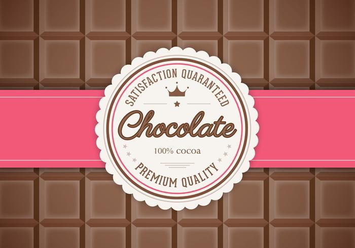 Bar van Chocolade Achtergrond PSD