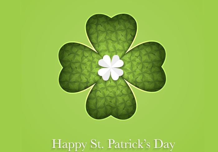 Cutout Clover Glad St Patrick's Day PSD