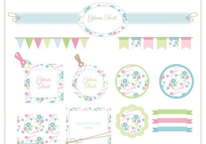 Floral Scrapbook PSD Set