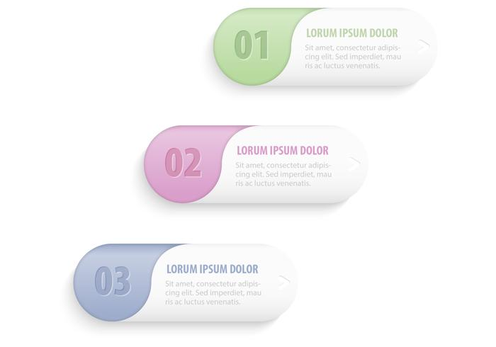 Pastelbanners Knoppen PSD Set