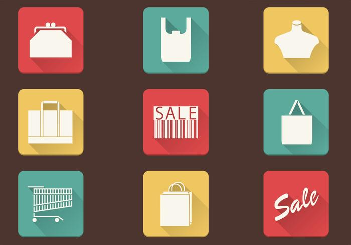 Enkel Shopping Ikoner PSD Pack
