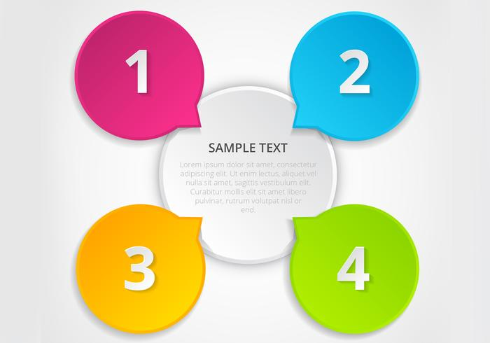 Colorful Infographic PSD Template