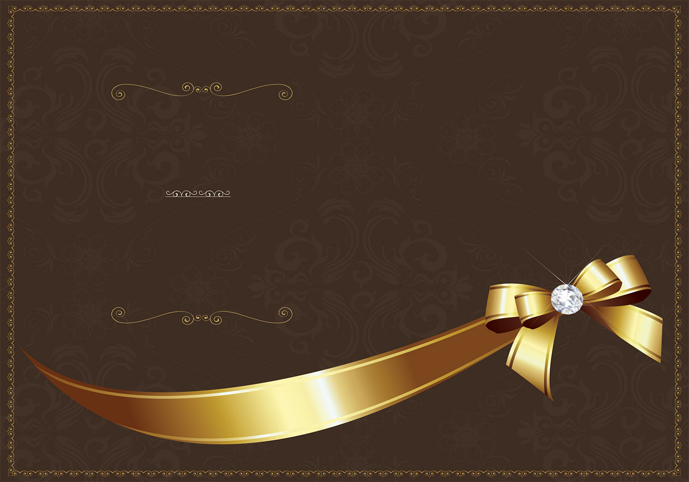 Photoshop Templates: Golden Luxury Invitation PSD Template
