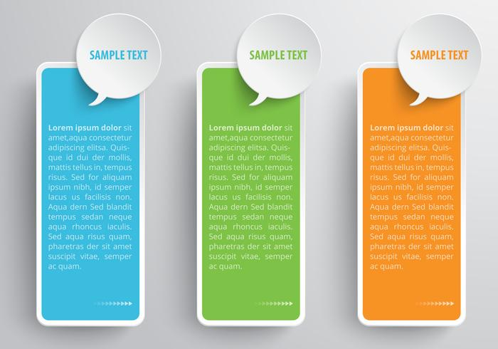 Speech Bubble Banner PSD Set
