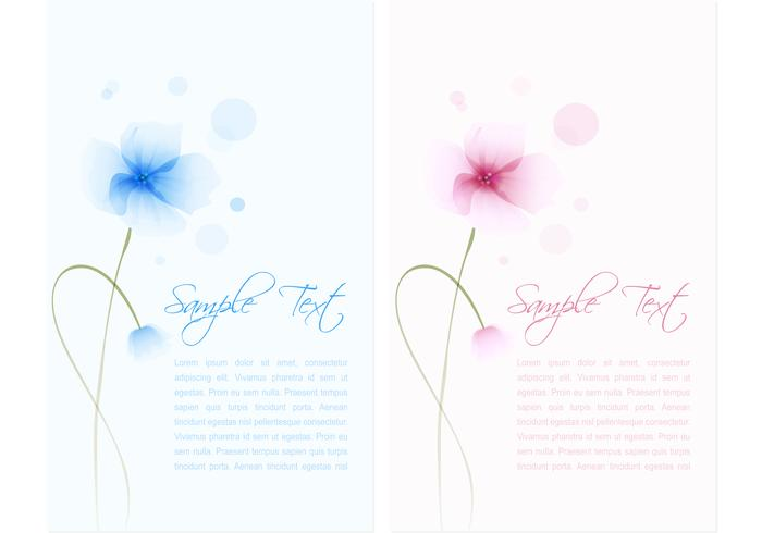 Watercolored Flower Banner PSD Set