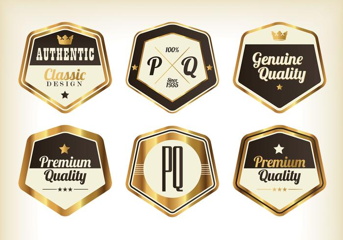 Paquete PSD Gold Premium Badge