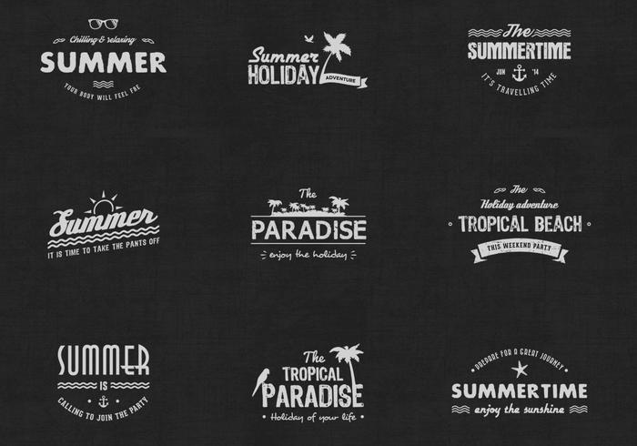 Pacote PSD do emblema vintage Summer Badge
